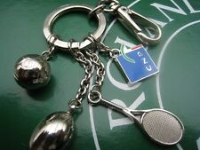GRAND MODELE Porte cles Keychain Arthus B. Tennis Rugby Football CNP Garros