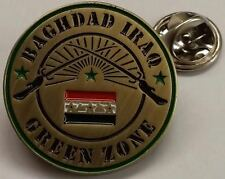 "U.S. Department of State Baghdad Iraq Green Zone 1"" Hat / Lapel Pin / Tie Tack"