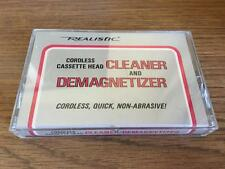 REALISTIC CASSETTE TAPE HEAD CLEANER/DEMAGNETIZER RARE TESTED LATE NITE BARGAIN!