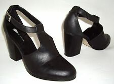 New Look Damas Negro T-Bar y Correa en el Tobillo Zapatos UK 6 EU 39