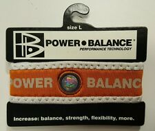 POWER BALANCE ORANGE/WHITE SZ SMALL ELASTIC/STRETCH NEOPRENE WRISTBAND/BRACELET