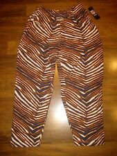 New DENVER BRONCOS Zebra Print MEDIUM zubaz NFL workout parachute M pants NWT