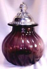Carson Home Accents Classic Round Glass Canister - Amethyst