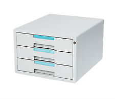 Flat File Cabinet 3 Drawers Index Key Lock Office Home Sytem 1123K