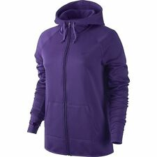 NIKE WOMEN HOODY ALL TIME THERMAFIT SIZE XL PURPLE 683656 NWT FULL ZIP