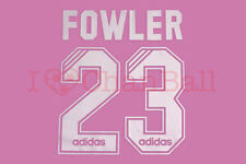 Liverpool 95/97 Fowler #23 Home NameKit 1 Layer Velvet Printing Set