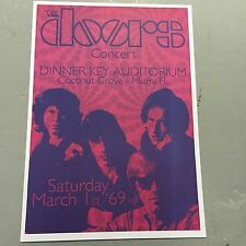 THE DOORS - CONCERT POSTER MIAMI FL U.S.A. 1ST MARCH 1969    (A3 SIZE)