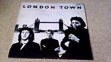 WINGS LONDON TOWN 1st EMI BRIGADIERS SOUTH AFRICA LP 1978 w INNER + GIANT POSTER