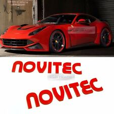 Side Front Trunk Mini Emblem Point Novitec Logo Badge Red 2Pcs for All Vehicle