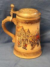 Gerz West Germany Beer Wagon Lidded Beer Stein Soyfen Und Malz Gott Erhalts