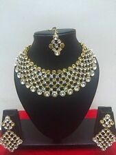 Indian Bollywood Gold Plated Wedding Bridal Fashion Jewelry Necklace Set
