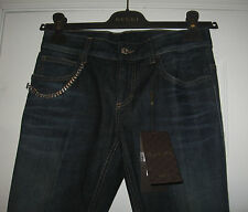 NWT AUTH GUCCI women JEANS DENIM CHAIN SKYNNY FLARE size 40 IT / 4 US