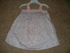 Piper & Posie Floral Dress Set Gray Pink Baby Girls Size 9M 9 Months NWT NEW