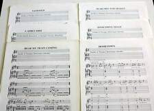6 x partitions sheet music THE DOGS (LABOUBEE) : Satisfied + 5 *70's French Rock