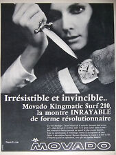 PUBLICITÉ DE PRESSE 1968 MONTRE MOVADO KINGMATIC SURF 210 - ADVERTISING