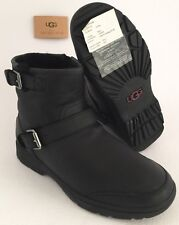 UGG DAWN Leather WATERPROOF Boots #1008026 $200 Holiday Sale US7 Black