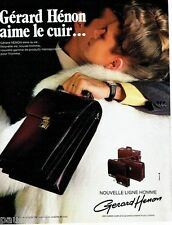 PUBLICITE ADVERTISING 106  1983  Gerard  Henon  maroquinerie sacoches malettes