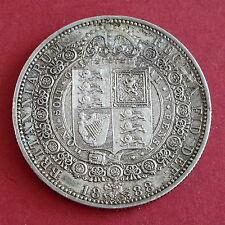 1888 QUEEN VICTORIA JUBILEE HEAD SILVER HALF CROWN