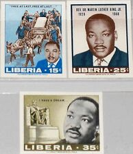 Liberia 1968 702-04 u 480-82 Rev. Dr. Martin Luther King Civil Rights Leader mnh