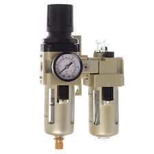 "1/4"" Air Line Regulator Lubricator and Water Trap With Filter THE BEST SET"