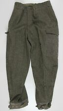 "(3) WW2 1952 DATED SWEDISH ARMY M39 COMBAT WOOL TROUSERS 32"" WAIST"