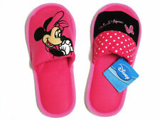 Minnie Mouse Pink,Black Slippers US size 6-10 (UK 4-7.5, EU 36-41) #035