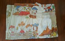 Vintage Peanuts Charlie Brown Snoopy Woodstock Cowboy Twin Fitted Sheet