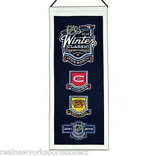 2016 NHL WINTER CLASSIC WOOL MINI BANNER BOSTON BRUINS VS MONTREAL CANADIENS 1/1