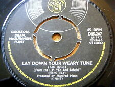 "COULSON, DEAN, McGUINNESS FLINT - LAY DOWN YOUR WEARY TUNE  7"" VINYL"