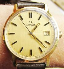 Gents 1970s GP Omega Automatic Swiss Date Watch cal 1480 movt Serviced Warranty
