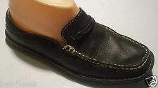 Born W3860 Black Leather Loafers Mules Shoes Low Back Flats Size 6 @cLOSeT