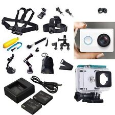 XiaoMi Yi Sports Action Camera+Accessories Kit+Dual charger Battery Case Belt w