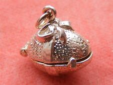 VINTAGE STERLING SILVER CHARM EGG OPENS