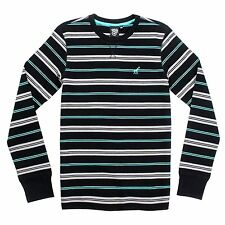 LRG Lifted Research Group Striped RC Thermal in Black Medium M Long Sleeve Shirt