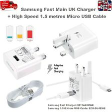 Genuine 2A UK Mains Fast Adaptive Charger with 1.5M Cable for Samsung S6 S7 Edge