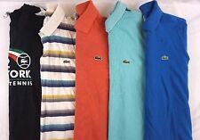 Lacoste Men's Mixed Lot of 5 Polos/ Casual Shirts EUR Size 3, US Small S DA15918