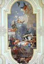 Signe Métallique Giovanni Battista Tiepolo l'institution du Rosaire 5 A4 12x8 alu