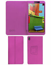 "ACM-EXECUTIVE LEATHER FLIP CASE for LENOVO PHAB 6.98"" TABLET COVER STAND - PINK"