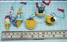 Disney Stitch Sweets Cell Phone Plug Mascot 5pcs - Takara Gashapon   - h#2