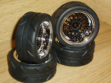 RC CAR WHEELS/TIRES-1/10 VATERRA V100 ON ROAD-TOURING-12MM HEX/HPI/Sprint 2/rs4