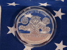 2010 Year of the Tiger 1 oz .999 Fine Solid Silver Coin Limited BUPRL Lot USA 1A