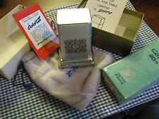 VINTAGE ZIPPO BARCROFT Capri 110's TABLE LIGHTER and Cigarette Pack