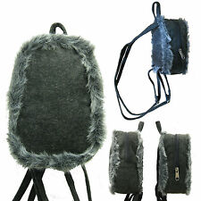 Fur Mini Backpack Girls Student Rucksack Fashion Women School Small Bag Purse