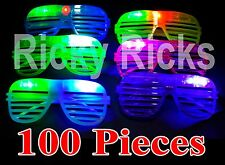 100 LED Shutter Glasses Light Up Shades Flashing Rave Wedding Rock Party