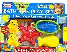 BATH  PLAY GIFT SET with DUCK SUCTION ,TOYs and  TIDY STORAGE NET