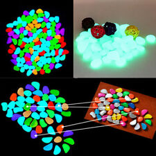 5 Pcs Glow in the Dark Fluorescent Pebbles Stones Walkway Aquarium Fish Tank New