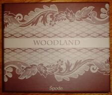 Spode WOODLAND Cheese Knife & 6 Spreaders Steel/Porcelain New in Box