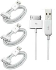 3 x USB Sync Data Charging Charger Cable Cord fits Apple iPhone 4 4S ipod 4G 4th