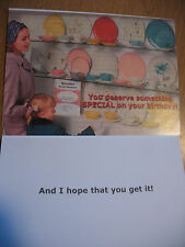"""Funny Comedy Humor Adult Birthday Card """"You Deserve Something Special On Your.."""""""