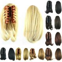 26cm Short Straight Clip In Ponytail Pony Tail Hair Extension Claw On Hair Piece